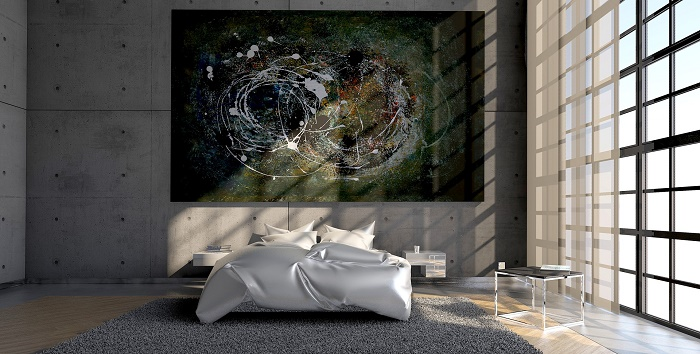 Moderná spalna dizajn
